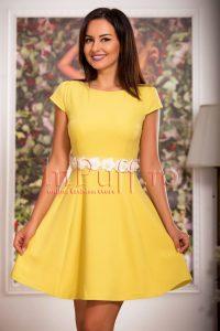 rochii galbene scurte si lungi online